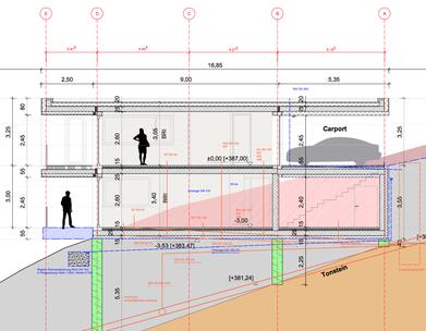 generierter Werkplan - Vertikalschnitt