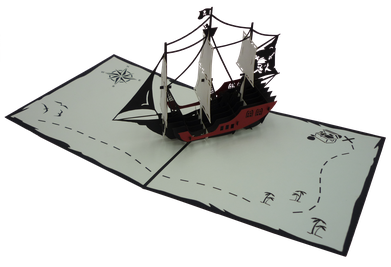Carte Pop-Up Bateau pirate