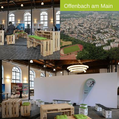 Eventmöbel mieten / Palettenmöbel Verleih & Vermietung in Offenbach am Main (Hessen) und Umgebung