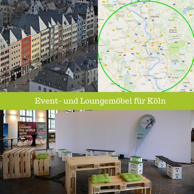 Eventmöbel mieten / Palettenmöbel Verleih & Vermietung in Köln (Nordrhein-Westfalen) und Umgebung