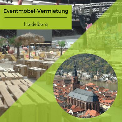 Eventmöbel mieten / Partymöbel Verleih & Vermietung in Heidelberg (Baden-Württemberg) und Umgebung