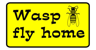Logo Wasp fly home Wespenspray