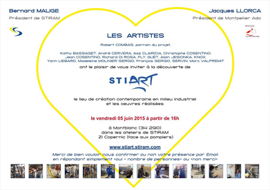 Carton d'invitation pour l'expo Stiart  5 juin 2015