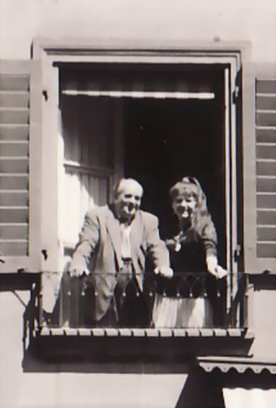 Bettina and Erwin Bowien in Bern, 1962