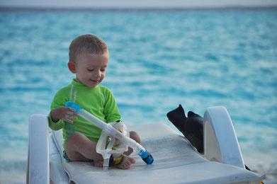 Lorenzo, 14 mesi alle Maldive