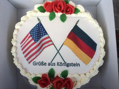 Klaus Hafner CSU Königstein Hirschbach Christopher Cavoli US Army Torte Markt Königstein