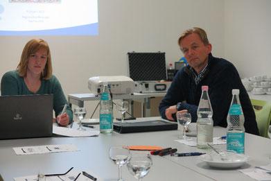 Franziska Sonneberg mit dem damaligen NWVV-Vorsitzenden Dr. Heinz Wübbena