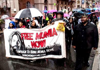 Demo for Mumia i Philadelphia, den 5. januar 2019