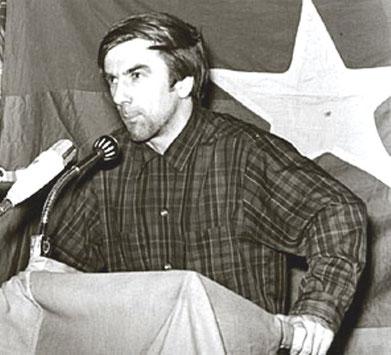 Rudi taler på Vietnamkongressen i Berlin , februar 68
