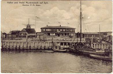 Munkmarsch auf einer Postkarte von 1886