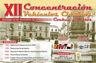 XII concentracion de vehiculos clasicos Totana