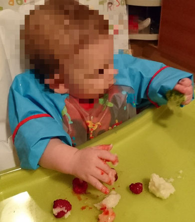 #BLW #BLWideas #Rezepte #Himbeeren #Grießbrei #Babybrei #Rezepte #Beikost #Baby #Ernährung #Blog #BabyLedWeaning Baby Led Weaning