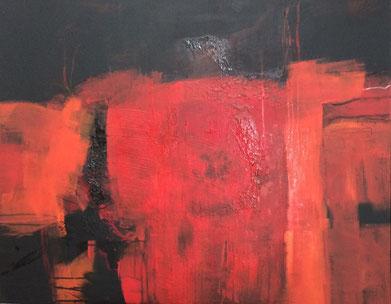 Bild: Flammenmeer: 80 x 100 cm, auf Leinwand, Acryl-Mischtechnik