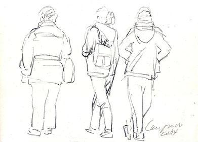 Innenraum-zeichnen Kunstschule Cecily Park