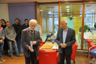Der ehemalige Sportjugend-Vorsitzende Gerd Büker erinnerte an die gemeinsame Zeit
