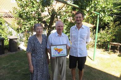 Ida Fsicher (von links), Robert Fischer und Sohn Christian