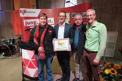 Michael Meixner (von rechts), Michael Kühn, Hansjörg Kopp und Manfred Wille
