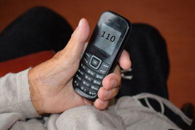 Die Polizei ruft niemals unter der Polizeinotrufnummer 110 an! Foto: Polizei