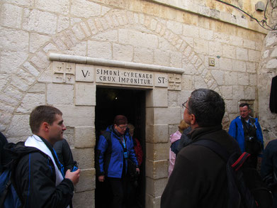The entrance to the chapel of the 5th station of Via Dolorosa
