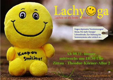 Lachyoga, Lachyoga Zittau, Yoga, Yoga Zittau, Ihr Körperstylist, Sportkurs, Wellness, Fitness, Löbau, Bautzen, Görlitz