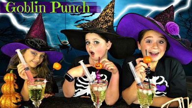ghostly goblin punch, halloween treats, recipe, recipes, halloween, easy halloween recipe