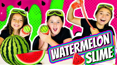 slime, science, watermelon slime, how to make slime, wild adventure girls