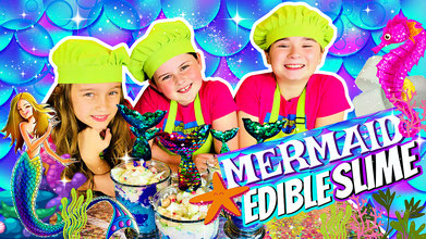 slime, science, edible slime, recipe, mermaid slime, marshmallow slime