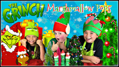 recipe, christmas treats, the grinch marshmallow pop