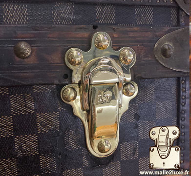 Louis Vuitton trunk clasps in solid brass