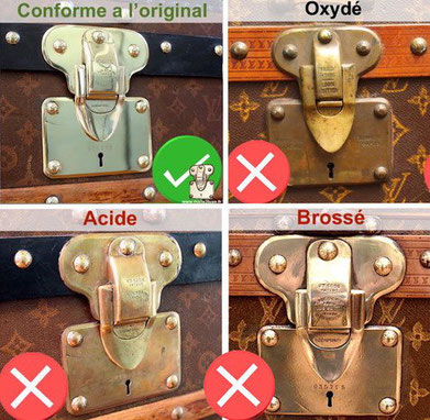 Luxury trunk buying guide - restoration trunk brass polishing louis vuitton old malle2Luxe
