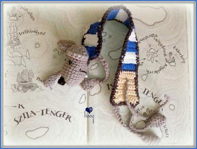 crochet bookmark Rumini mouse