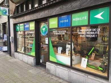 magasin trottinettes électriques Namur