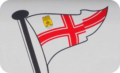 Logo des Segel Verein im Hafen von Cuxhaven