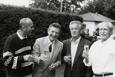 Von links, Horst Eckel, Fritz und Ottmar Walter, Werner Liebrich (Foto: Bernd Endres)