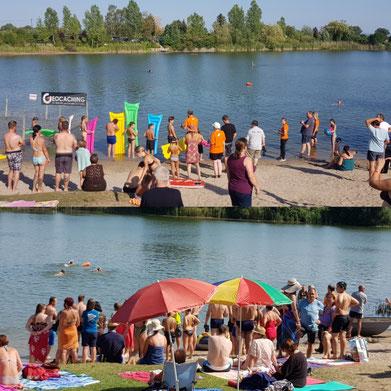 Wettbewerbe beim Event am See