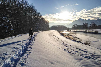 Schneschuhwandern und Touren von der Alten Gendarmerie Übersee aus