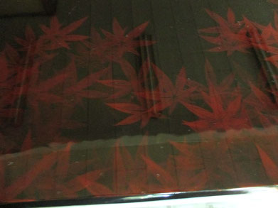 天板の紅葉