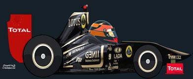 Romain Grosjean by Muneta & Cerracín -  Lotus Renault GP 9 Renault R31 Renault V8
