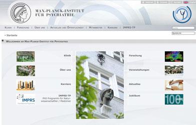 Screenshot der Instituts-Website