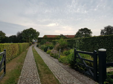 The driveway to Piet and Anja Oudolf's private garden in Hummelo.