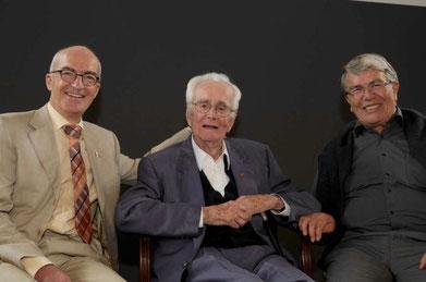 Drei Generationen: Bischof Schäfer (Mitte), Bischof Streiff (links), Bischof Bolleter