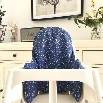 Cette image représente la housse de chaise haute Bill pour les chaises hautes de type Ikea