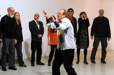 Stimmimprovisationsensemble Polyfolie, Leitung Phil Minton 2014, Düsseldorf