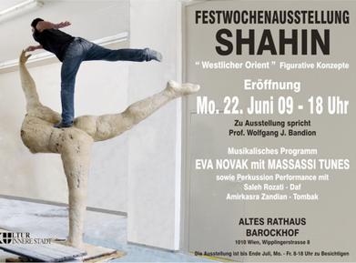 """galerie time Festwochenausstellung Shahin """"Westlicher Orient"""" Figurative Konzepte"""
