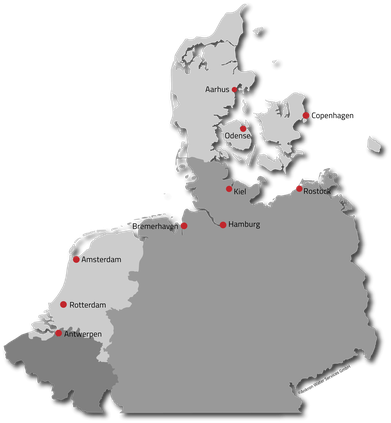 Ports of Call, Ankron, VGP, Germany, Denmark, Belgium, Netherlands, Coast