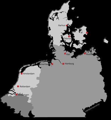 Ports of Call, Ankron, VGP, Germany, Denmark, Belgium, Netherlands, Coast