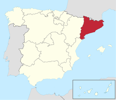 Spanien und die Provinz Katalonien | Bild: Wikimedia Commons/GNU-Lizenz für freie Dokumentation