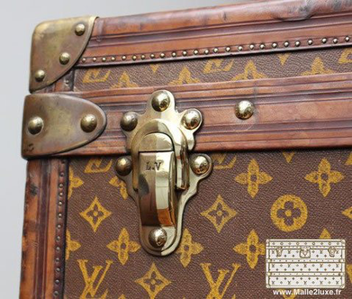 laser polishing of brass louis vuitton travel trunk