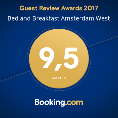 Guest review award 2017 bed and breakfast amsterdam west
