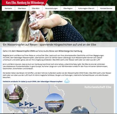 Kurs Elbe. Audioguides von Hamburg bis Wittenberge.Produktion-Helge Stroemer